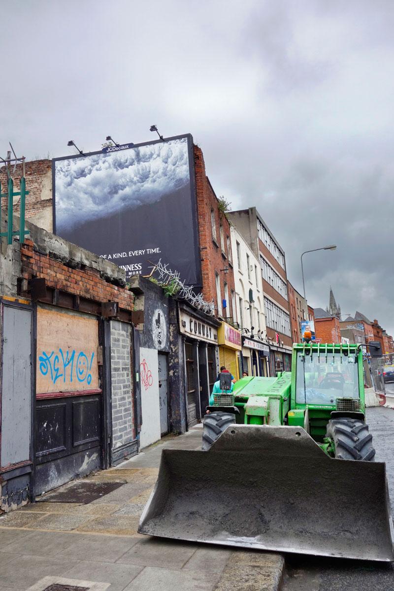 Irland Reise Straße in Dublin