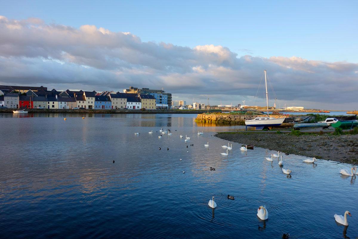 Luxus Reise Irland Galway-Abendstimmung