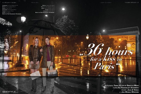 Fashioneditorial – 36 hours for a kiss in Paris