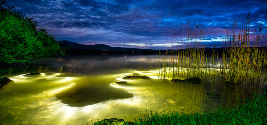 Lightpainting Lake Monster fotografiert am Starnberger See von Bernhard Rauscher