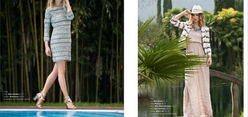 Modestrecke Fashionshooting Frühling Sommer 2016 Gardasee, Modefotograf Tobias Vetter München shootet Mode von Sportmax, Liu Jo, Twin Set und Max Mara am Gardasee. Alle Outfits sind im Fea Fashionloft Starnberg erhältlich