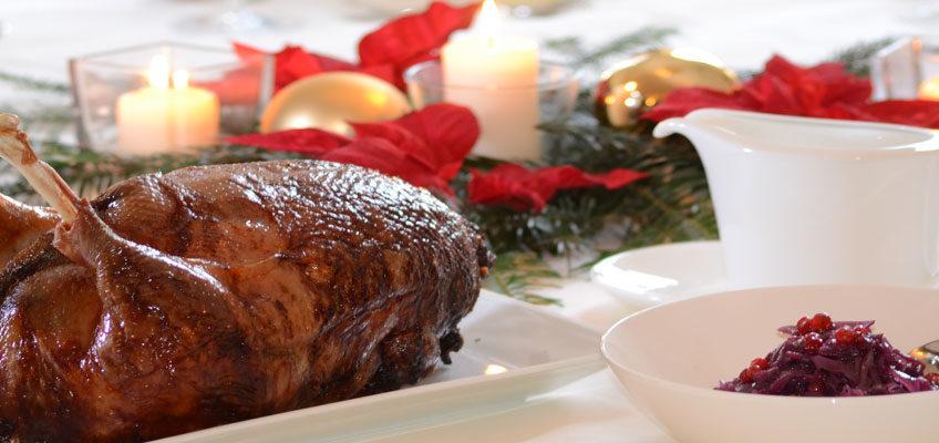 Knusprige Weihnachtsgans aus Freilandhaltung für Weihnachten fertig bestellen