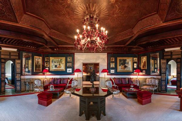 Salon, Al Mamoun Suite, Room 280. La Mamounia Hotel, Marrakech,