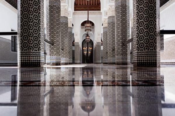 Patio Noir et Blanc, La Mamounia Hotel, Marrakech, Morocco.