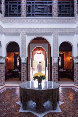 Moroccan Restaurant, La Mamounia Hotel, Marrakech, Morocco.