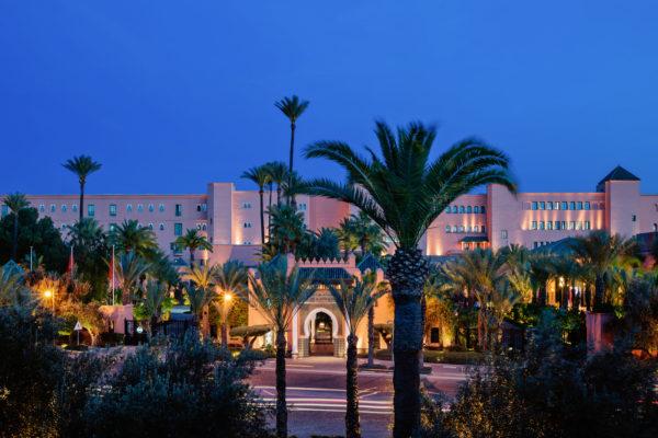 Entrance Facade La Mamounia Hotel, Marrakech, Morocco.