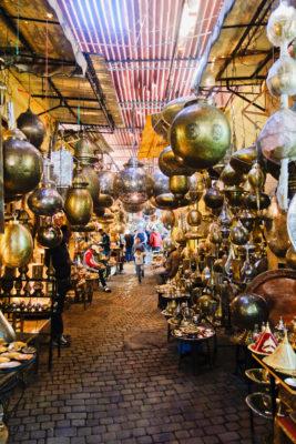 Marocco Medina Marrakesch Lampenhaendler