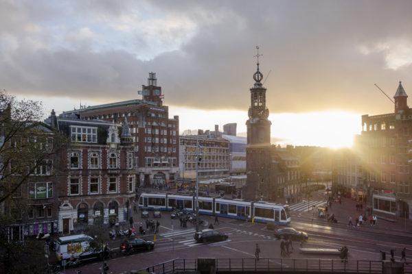 Ausblick aus einer Suite des De L'Europe Hotel im Herzen Amsterdams