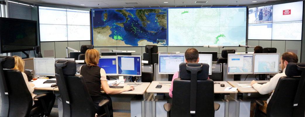 die Frontexzentrale überwacht die europäischen Außengrenzen